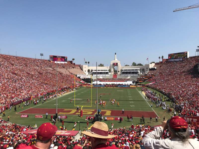 Seating view for Los Angeles Memorial Coliseum Section 212 Row 1 Seat 34