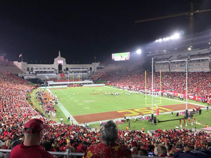 Seating view for Los Angeles Memorial Coliseum Section 216 Row 2 Seat 6
