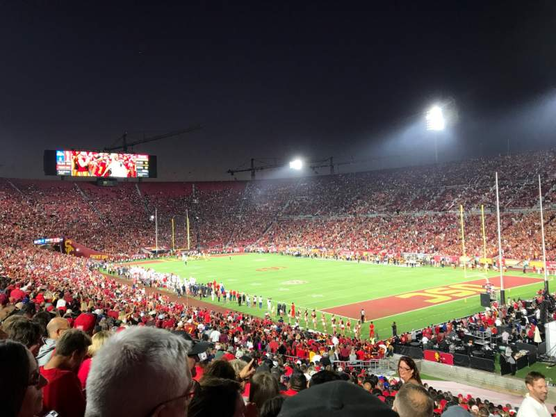 Seating view for Los Angeles Memorial Coliseum Section 102 Row 43 Seat 1
