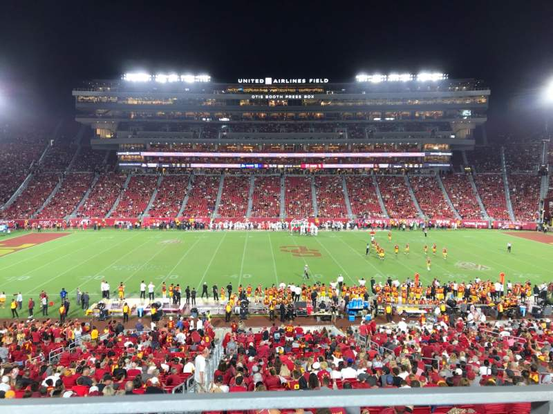 Seating view for Los Angeles Memorial Coliseum Section WC 122A Row 39 Seat 10