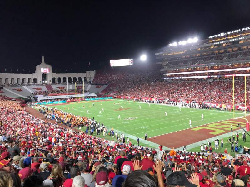 Seating view for Los Angeles Memorial Coliseum Section 117 Row 43 Seat 12