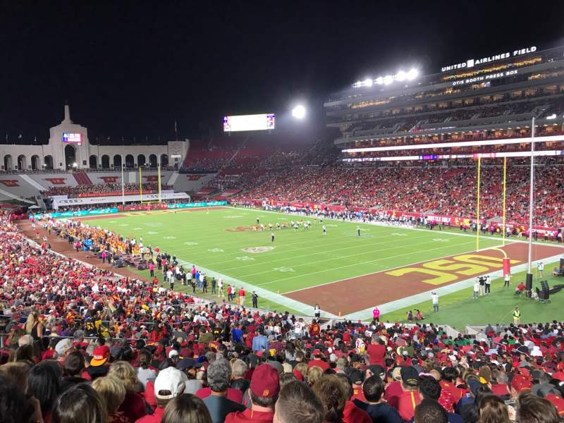 Seating view for Los Angeles Memorial Coliseum Section 117 Row 43 Seat 9