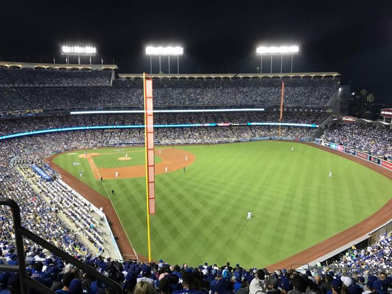 Seating view for Dodger Stadium Section 58RS Row BB Seat 3