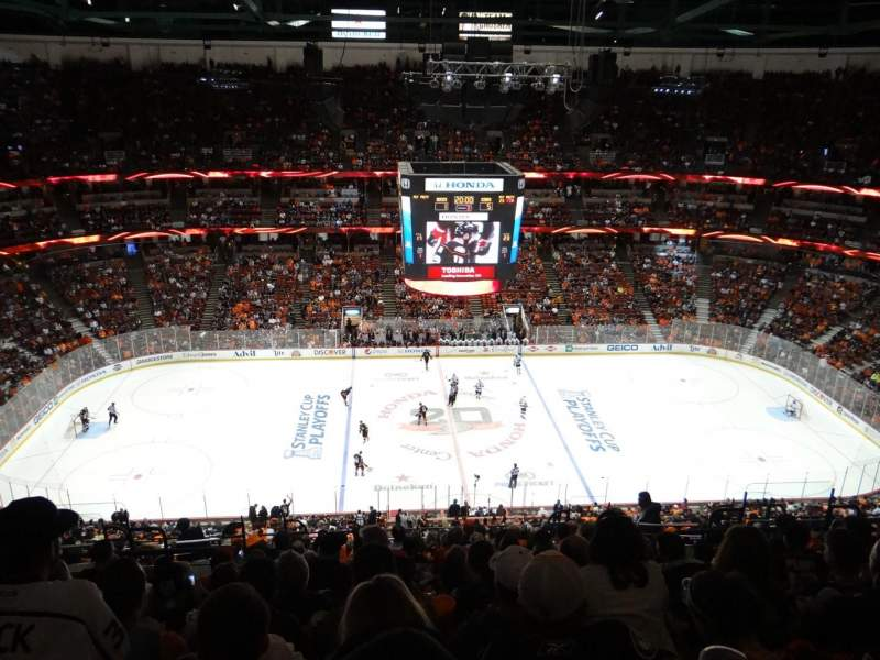 Seating view for Honda Center Section 434 Row R Seat 11