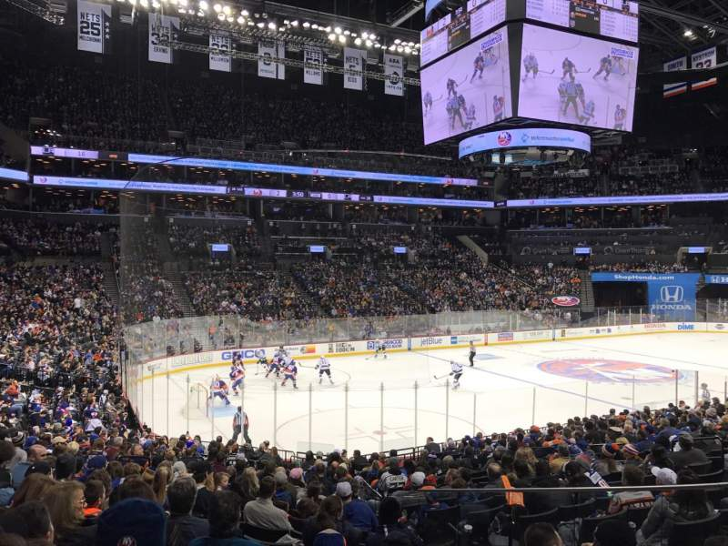 Seating view for Barclays Center Section 12 Row 20 Seat 7