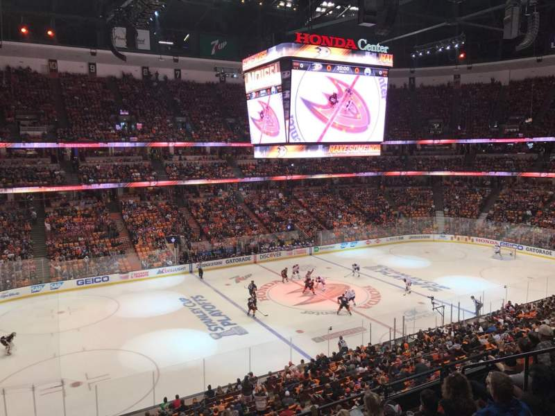 Seating view for Honda Center Section 322 Row 1 Seat 2