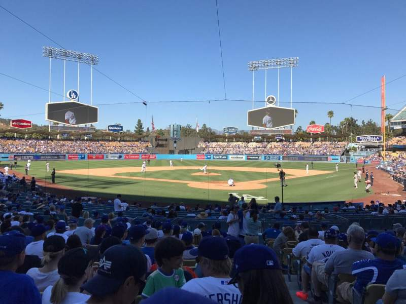 Seating view for Dodger Stadium Section 3FD Row O Seat 1