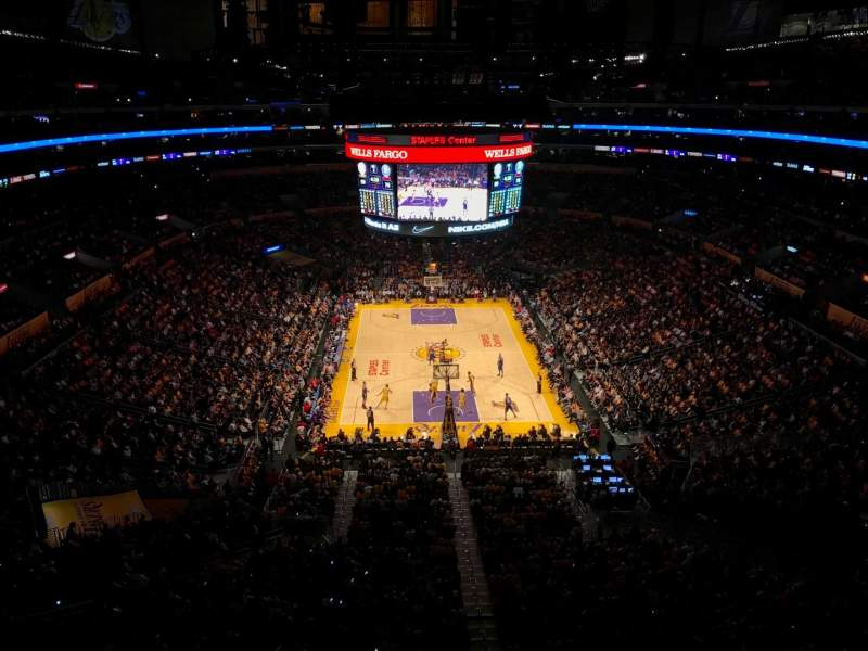 Staples Center, section: 327, row: 2, seat: 2
