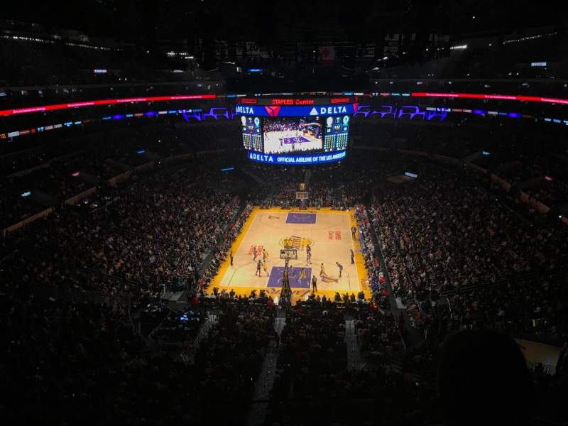 Staples Center, section: 309, row: 2, seat: 5