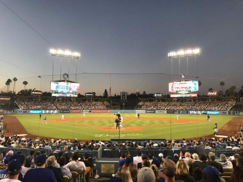 Dodger Stadium, section: 2FD, row: M, seat: 1