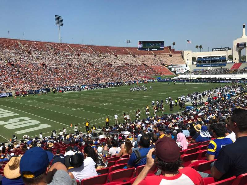 Seating view for Los Angeles Memorial Coliseum Section 10L Row 29 Seat 16