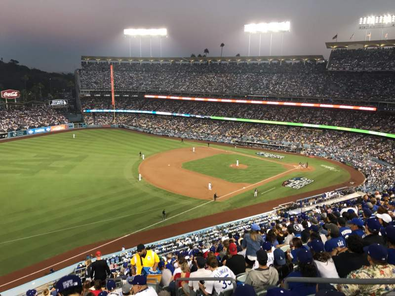 Seating view for Dodger Stadium Section 39RS Row R Seat 5