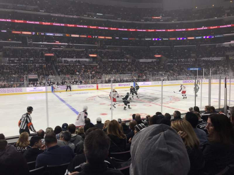 Seating view for Staples Center Section 112 Row 9 Seat 10