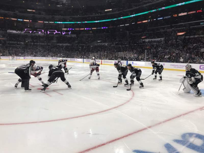 Seating view for Staples Center Section 108 Row 3 Seat 1