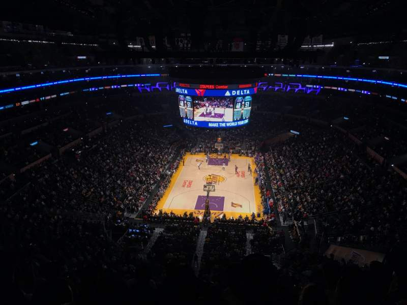 Seating view for Staples Center Section 309 Row 6 Seat 8