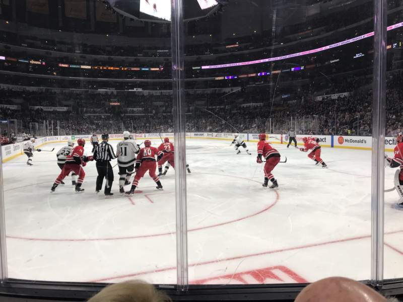 Seating view for Staples Center Section 116 Row 4 Seat 14