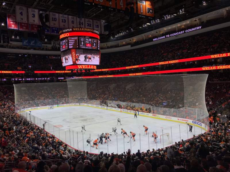 Seating view for Wells Fargo Center Section 117 Row 26 Seat 13