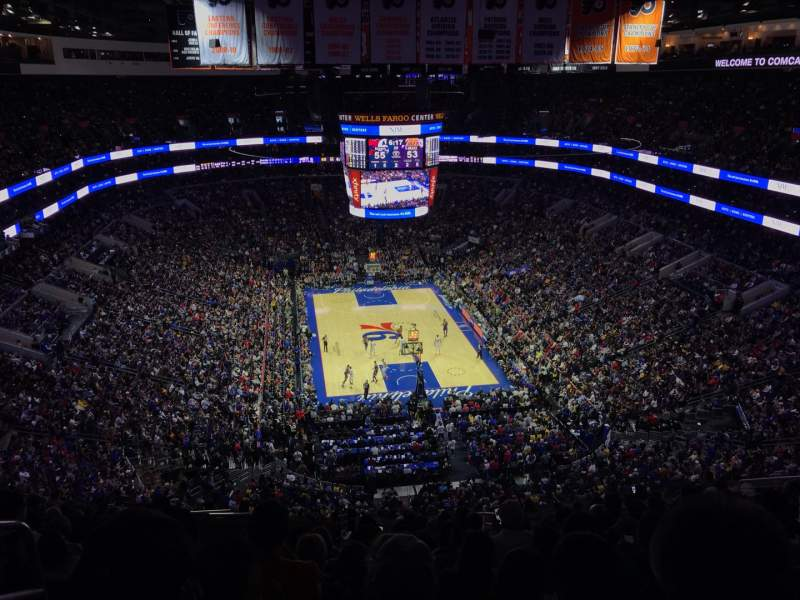 Seating view for Wells Fargo Center Section 219 Row 15 Seat 2