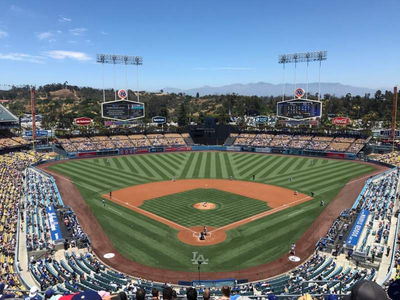 Seating view for Dodger Stadium Section 1RS Row L Seat 7
