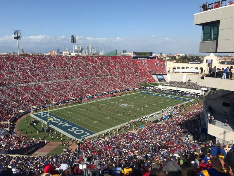 Seating view for Los Angeles Memorial Coliseum Section 311 Row 25 Seat 1