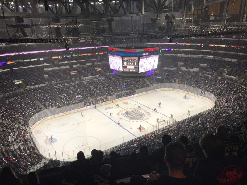 Seating view for Staples Center Section 321 Row 12 Seat 16