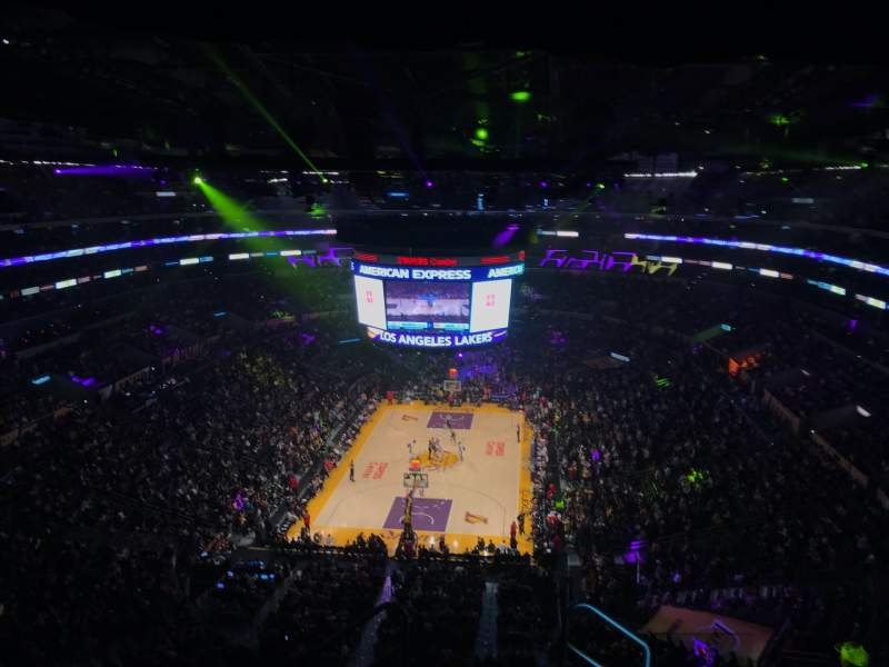 Seating view for Staples Center Section 309 Row 7 Seat 2