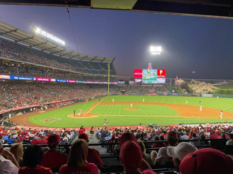 Seating view for Angel Stadium Section 222 Row E Seat 5