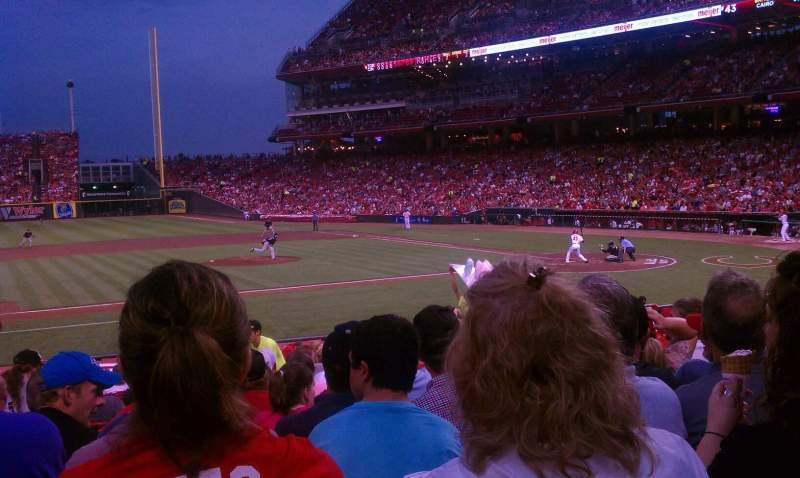 Seating view for Great American Ball Park Section 116 Row X Seat 9
