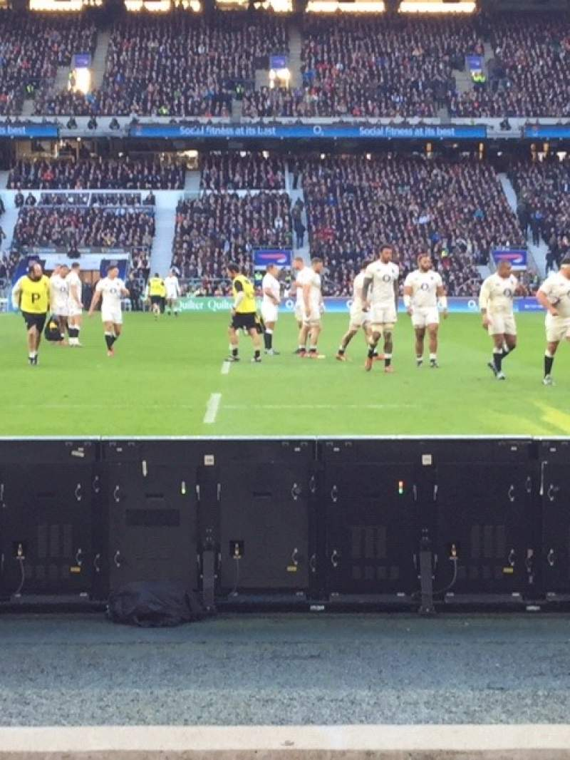 Seating view for Twickenham Stadium Section L24 Row 3 Seat 184