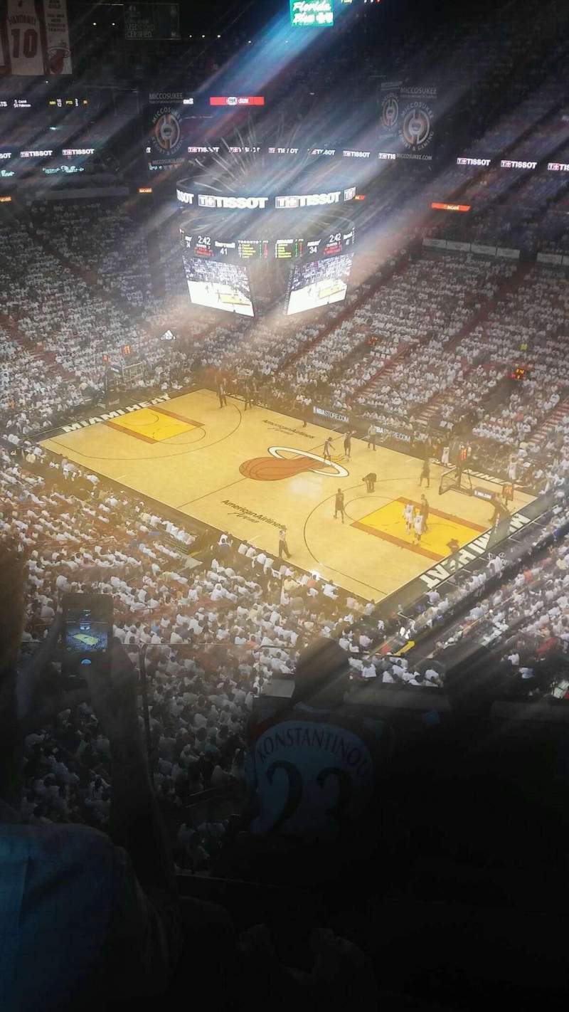 Seating view for American Airlines Arena Section 420 Row 4 Seat 7