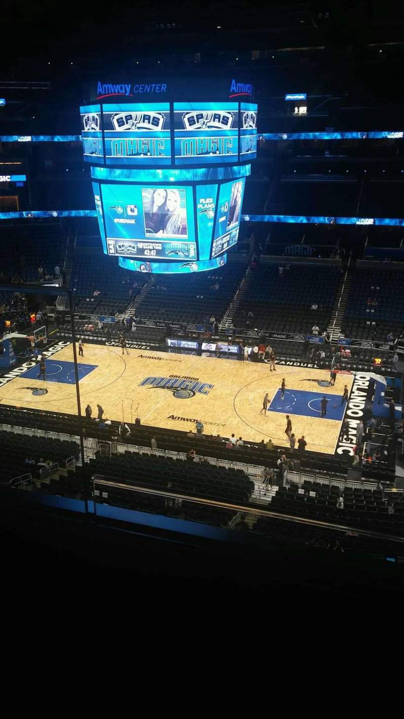 Seating view for Amway Center Section 223 Row 2 Seat 15-16