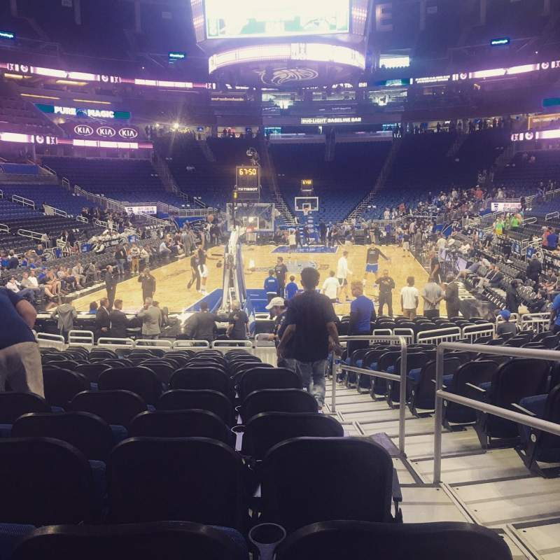 Seating view for Amway Center Section 110 Row 12 Seat 1