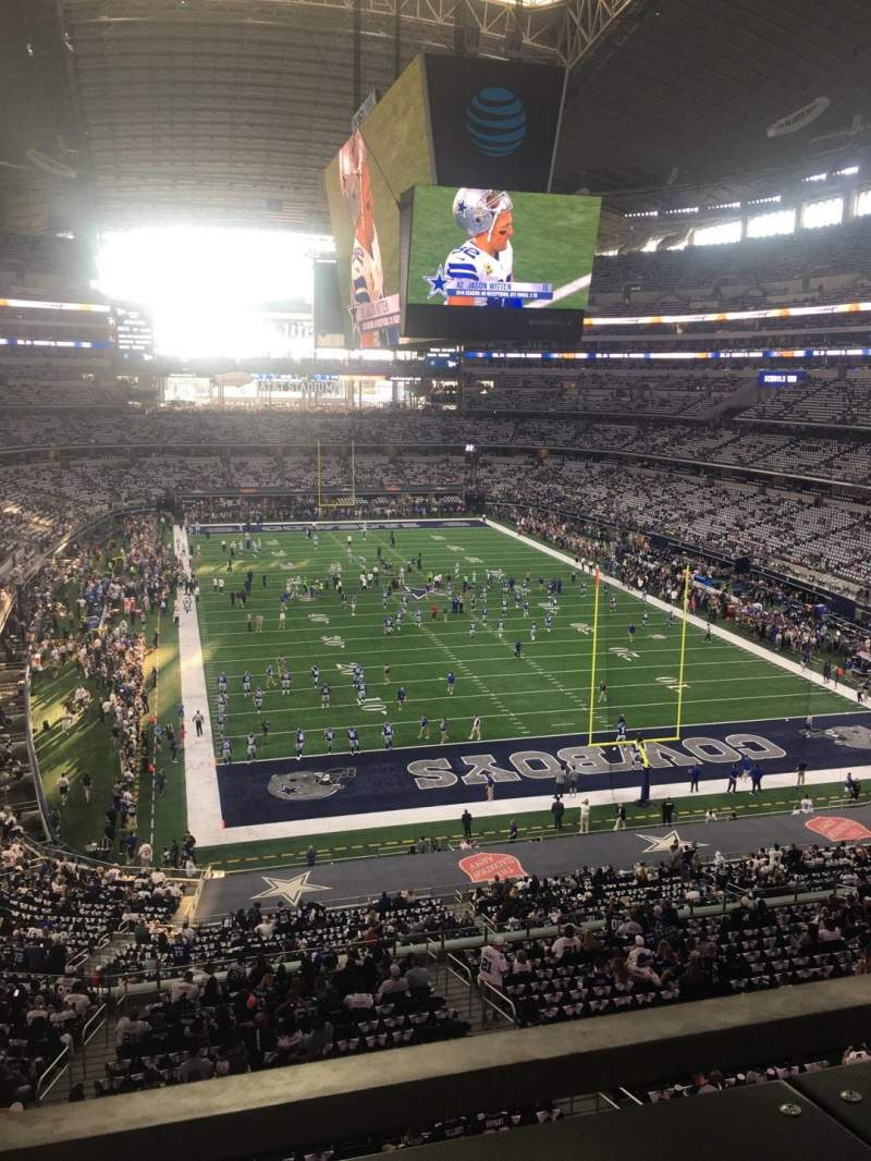 AT&T Stadium, section: 350, row: 1, seat: 8