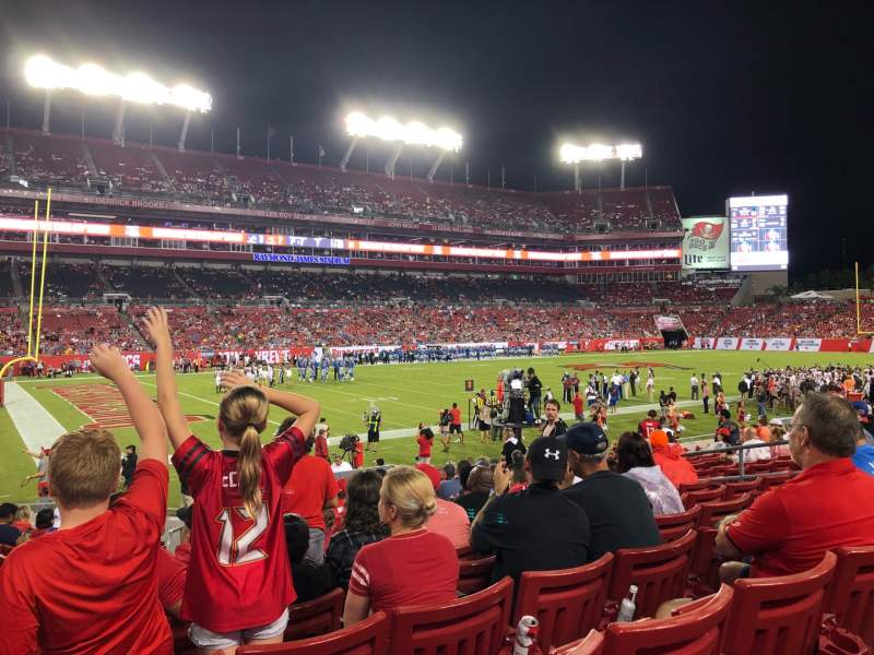 Seating view for Raymond James Stadium Section 106 Row R Seat 7