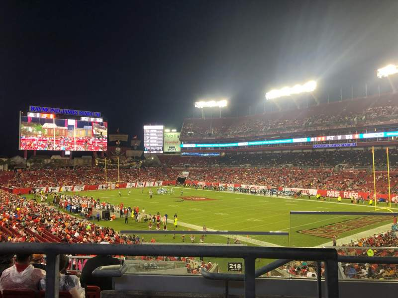 Seating view for Raymond James Stadium Section 218 Row G Seat 24