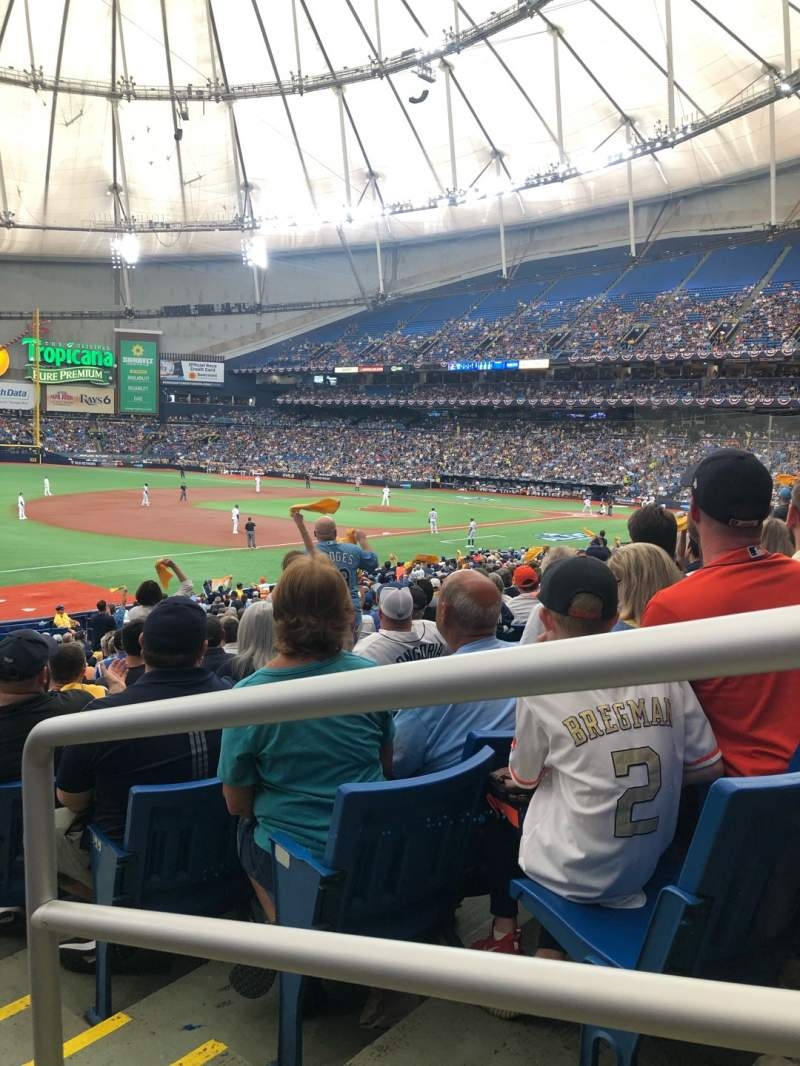 Seating view for Tropicana Field Section 129 Row FF Seat 23