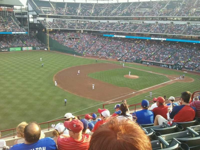Seating view for Globe Life Park in Arlington Section 214 Row 8 Seat 9
