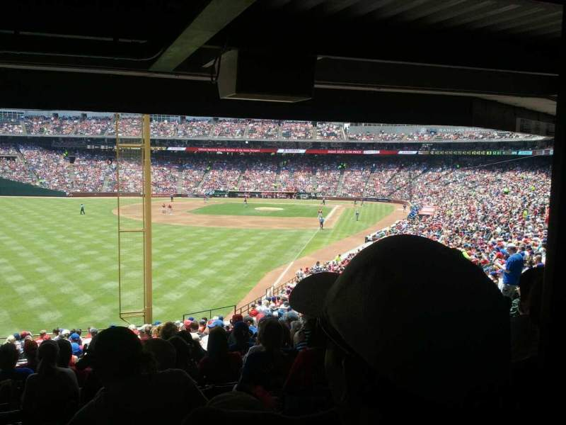 Seating view for Globe Life Park in Arlington Section 9 Row 24 Seat 7