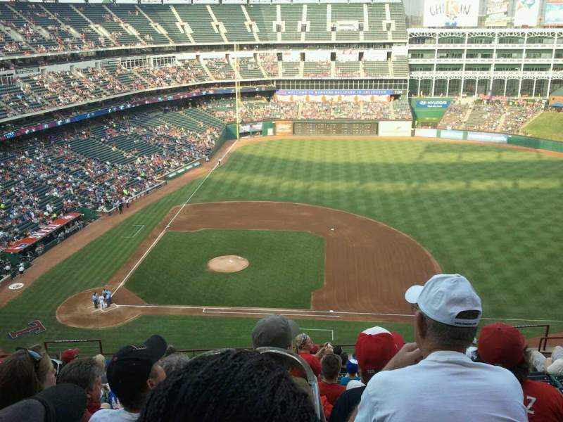 Seating view for Globe Life Park in Arlington Section 333 Row 14 Seat 7