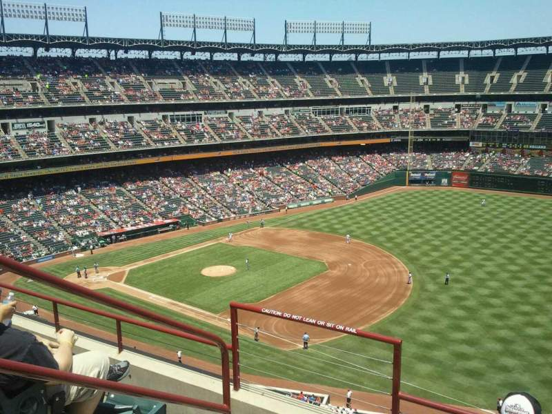Seating view for Globe Life Park in Arlington Section 338 Row 4 Seat 3