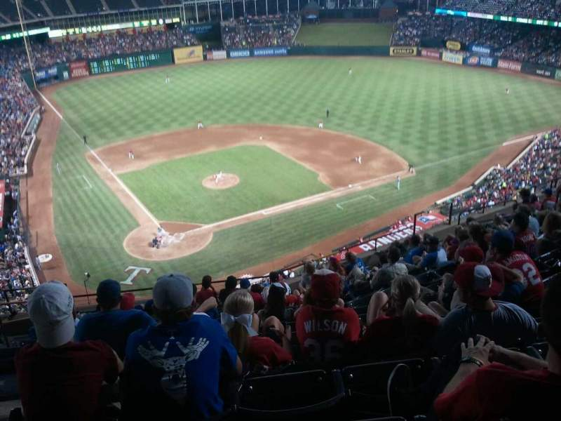 Seating view for Globe Life Park in Arlington Section 329 Row 13 Seat 5