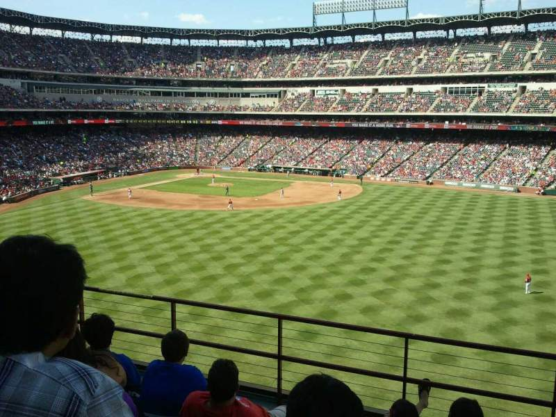 Seating view for Globe Life Park in Arlington Section 251 Row 6 Seat 18