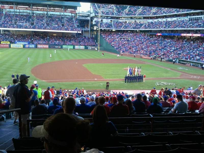 Seating view for Globe Life Park in Arlington Section 118 Row 37 Seat 12