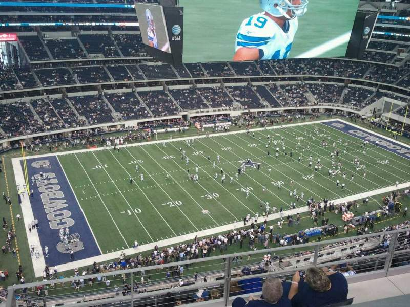 Seating view for AT&T Stadium Section 417 Row 9 Seat 10