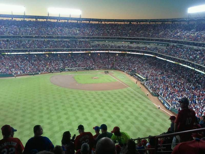 Seating view for Globe Life Park in Arlington Section 301 Row 11 Seat 5