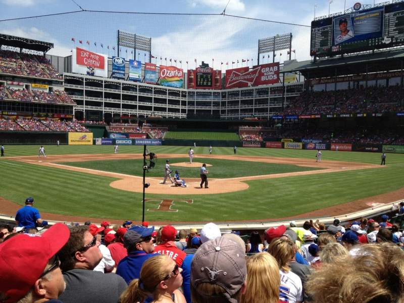 Seating view for Globe Life Park in Arlington Section 25 Row 12 Seat 18