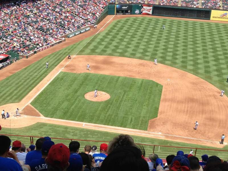 Seating view for Globe Life Park in Arlington Section 333 Row 15 Seat 9