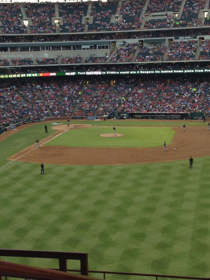 Seating view for Globe Life Park in Arlington Section 248 Row 14 Seat 23