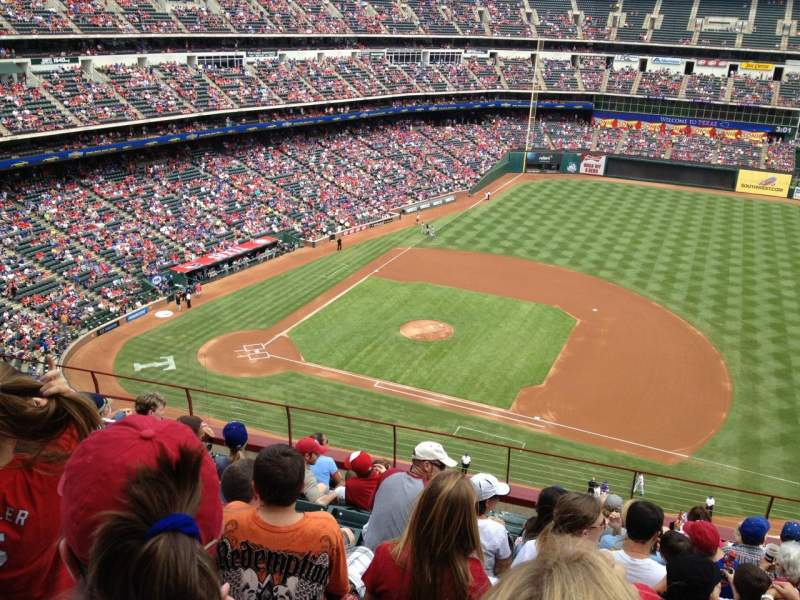 Seating view for Globe Life Park in Arlington Section 334 Row 11 Seat 10