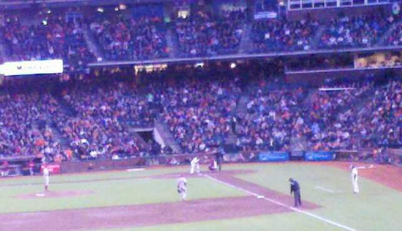 Seating view for AT&T Park Section 137 Row 28 Seat 7